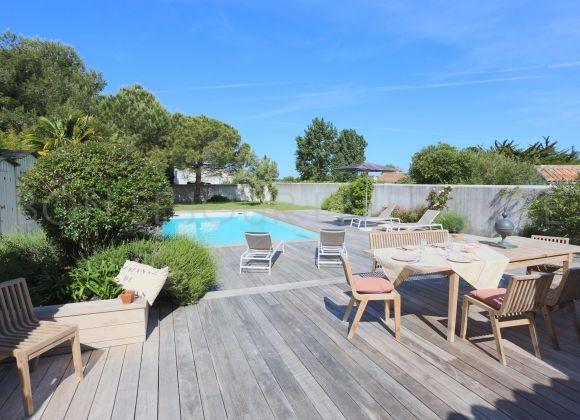 Location villa avec piscine sur l 39 ile de r tribord for Location villa ile de re avec piscine